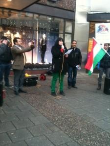 Manifestation mot regimen i Syrien