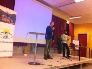 Joel talar på Perdiwar kongress
