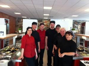 Personalen i Årbyskolans kök och reastaurang