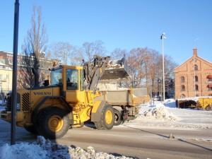 Snöröjning i Eskilstuna