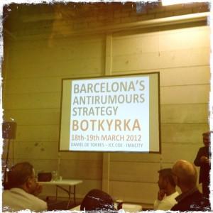 Daniel Del Torres presenterade arbetet i Barcelona