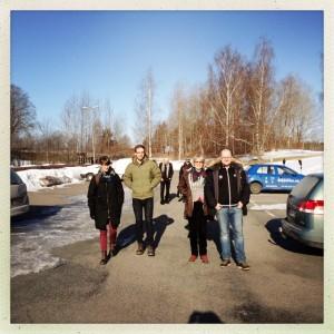Några av Eskilstunas ombud anländer till Åsa Folkhögskola