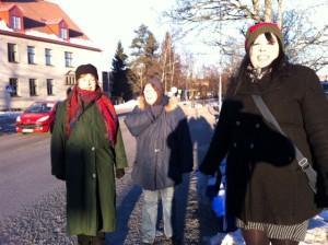 Maud, Terhi och Maria
