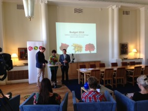 Eskilstunas majoritet presenterade budgeten för 2014