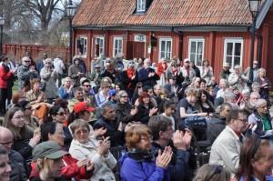 Mycket människor deltog i Vänsterpartiets firande