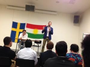 Joel Hamberg talade på årsmötet