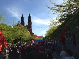Rekordstort pridetåg i Eskilstuna