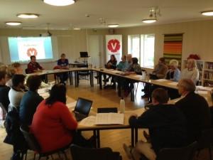 Syninge kursgård besöktes av Vänsterpartiet Sörmland