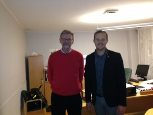 Mats Pilhem och Joel Hamberg i stadshuset i Göteborg