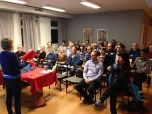 Stort intresse när Ulla Andersson besökte Eskilstuna och Vänsterpartiet