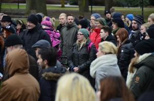 Många samlades i stadsparken