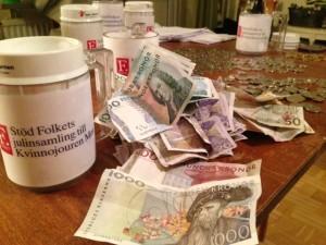 Insamlade pengar till Kvinnojouren Moa