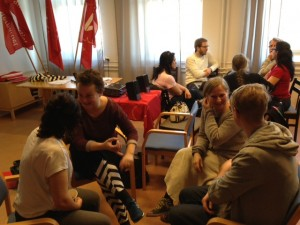 Eskilstunas politiker grupparbetar