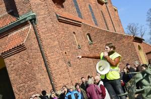 Fredrik Pettersson berättar om manifestationen