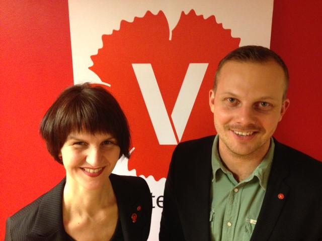 Maria Chergui och Joel Hamberg