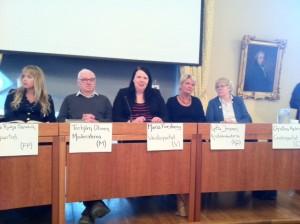 Maria Forsberg i debatt om äldrefrågor