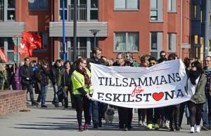 Tillsammans för Eskilstuna arrangerade manifestationen mot rasism