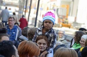 Vuxna och barn samlades i Eskilstuna
